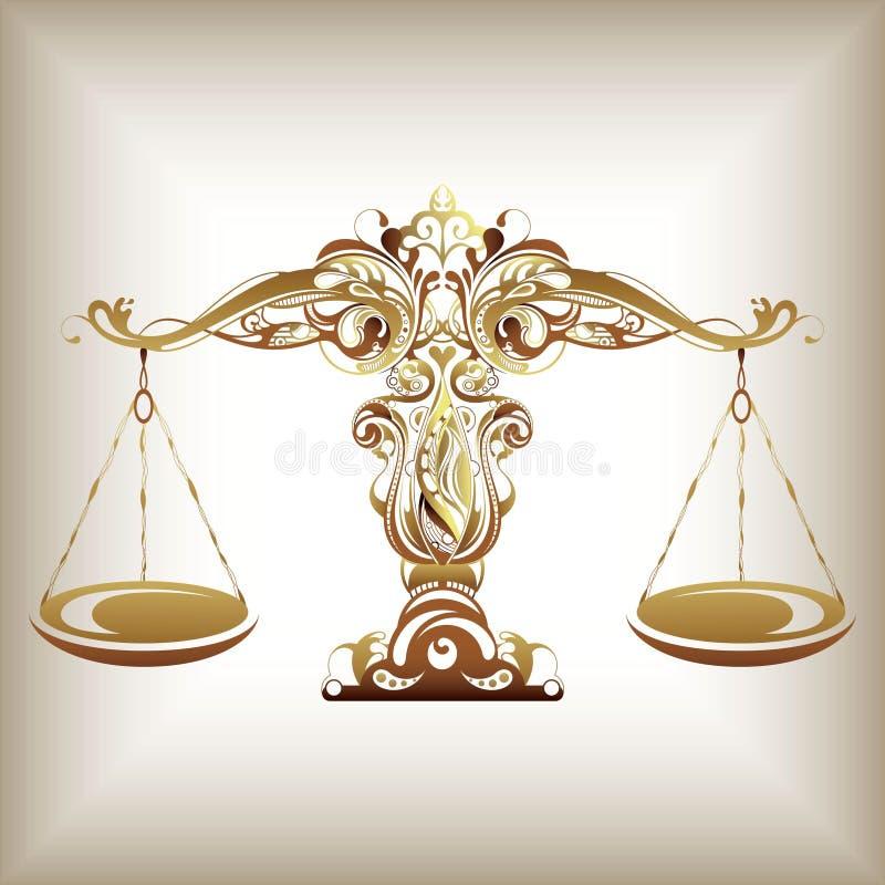 Balance de zodiaque illustration libre de droits