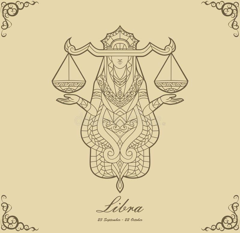 Balance de zodiaque illustration de vecteur