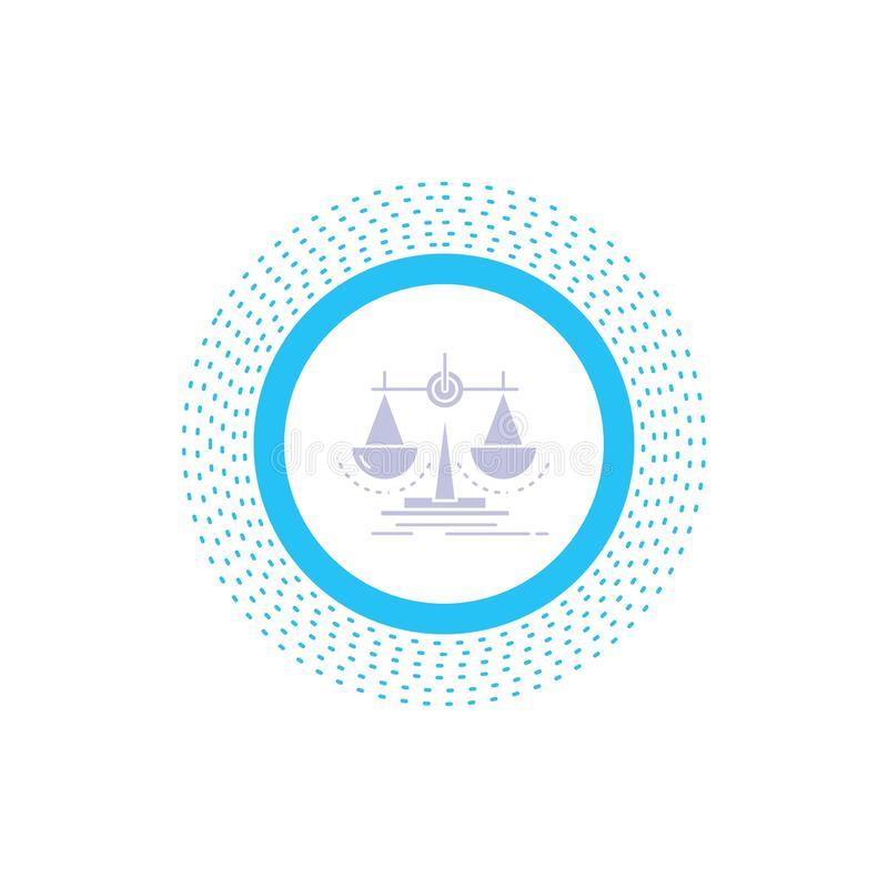 Balance, decision, justice, law, scale Glyph Icon. Vector isolated illustration. Vector EPS10 Abstract Template background royalty free illustration