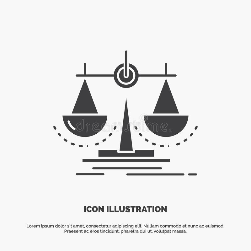 Balance, decision, justice, law, scale Icon. glyph vector gray symbol for UI and UX, website or mobile application. Vector EPS10 Abstract Template background vector illustration