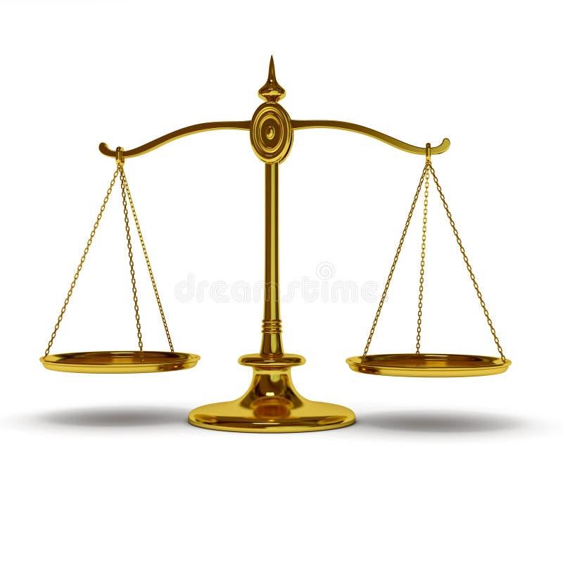 Balance del oro ilustración del vector
