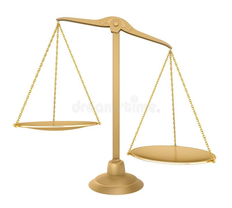 Balance del oro. Vista delantera ilustración del vector