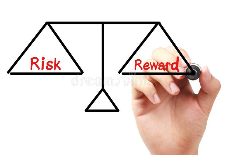 Balance del riesgo y de la recompensa fotos de archivo libres de regalías