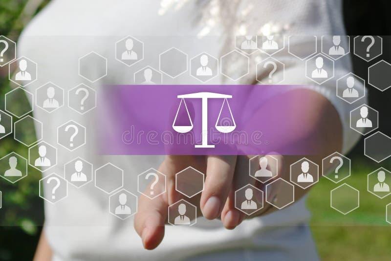 Balance Droit du travail Concept juridique d'Internet d'affaires photographie stock