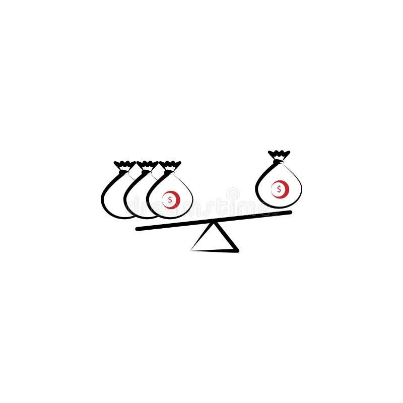 Balance finance 2 colored line icon. Simple colored element illustration. Balance finance outline symbol design from stock illustration