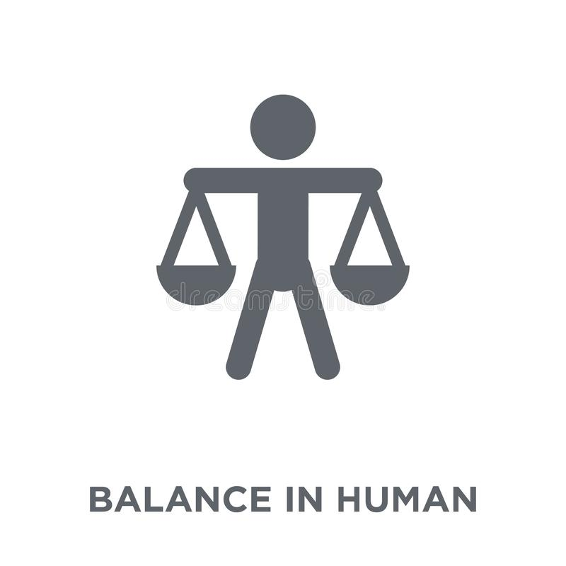 Balance in human resources icon from Human resources collection. vector illustration