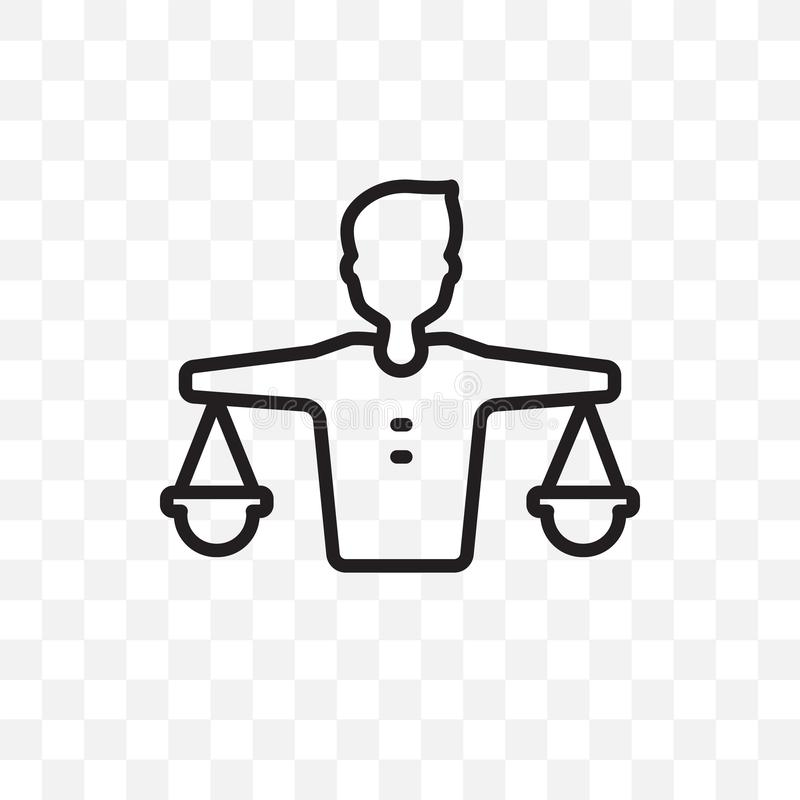 Balance in human resources vector linear icon isolated on transparent background, Balance in human resources transparency concept royalty free illustration