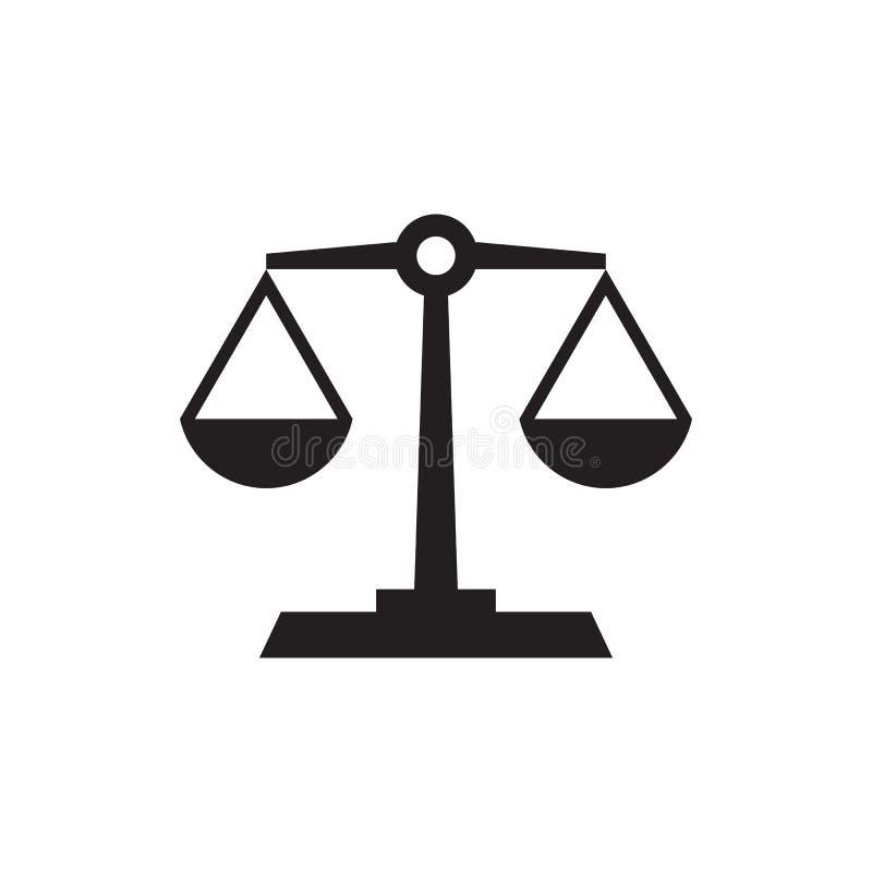 Balance - icône noire sur l'illustration blanche de vecteur de fond Signe de concept d'abrégé sur échelle Élément de conception g illustration stock
