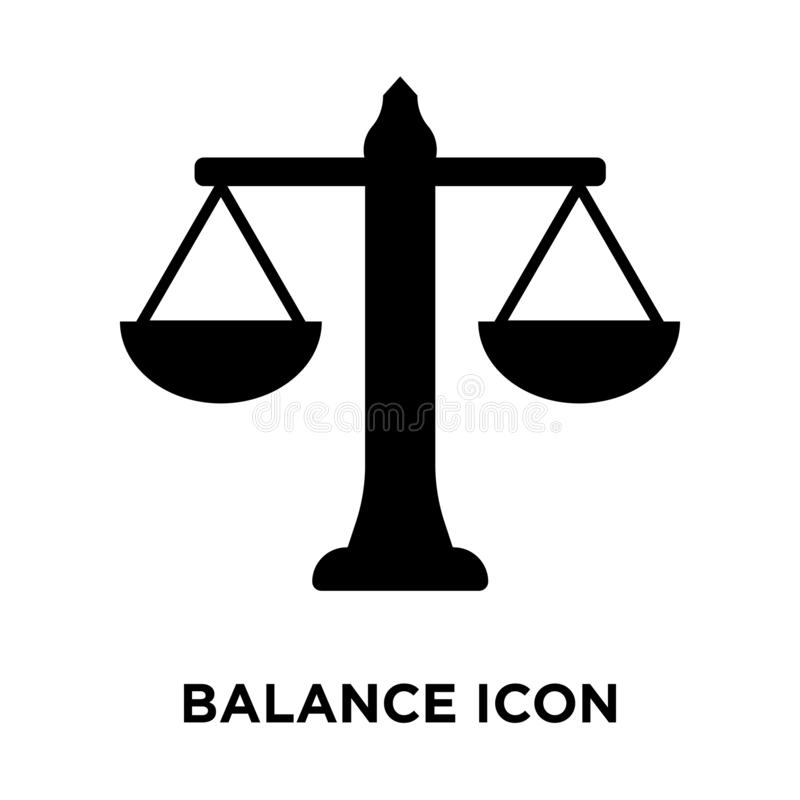 Balance icon vector isolated on white background, logo concept o vector illustration