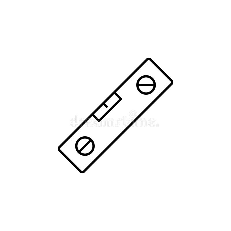 Balance, level icon. Simple thin line, outline vector of Construction tools icons for UI and UX, website or mobile application. On white background royalty free illustration