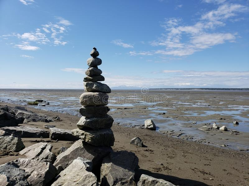 Balance at Low Tide stock photos