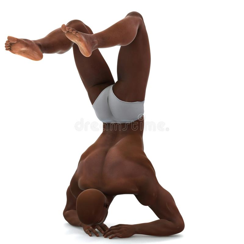 Balance. A male model in a pose royalty free illustration
