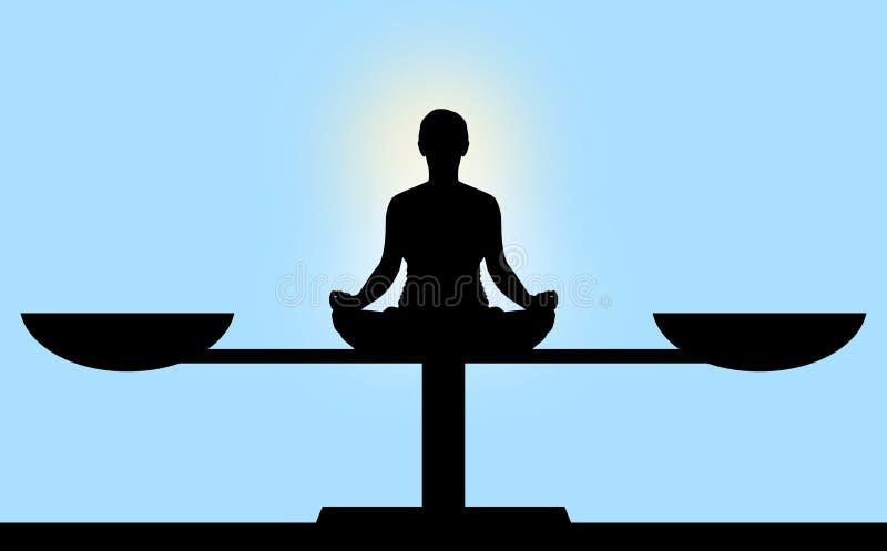 Balance meditation stock photo