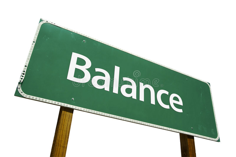 Balance road sign royalty free stock photography