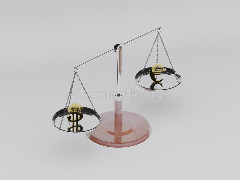 Balance scale 3D royalty free stock images