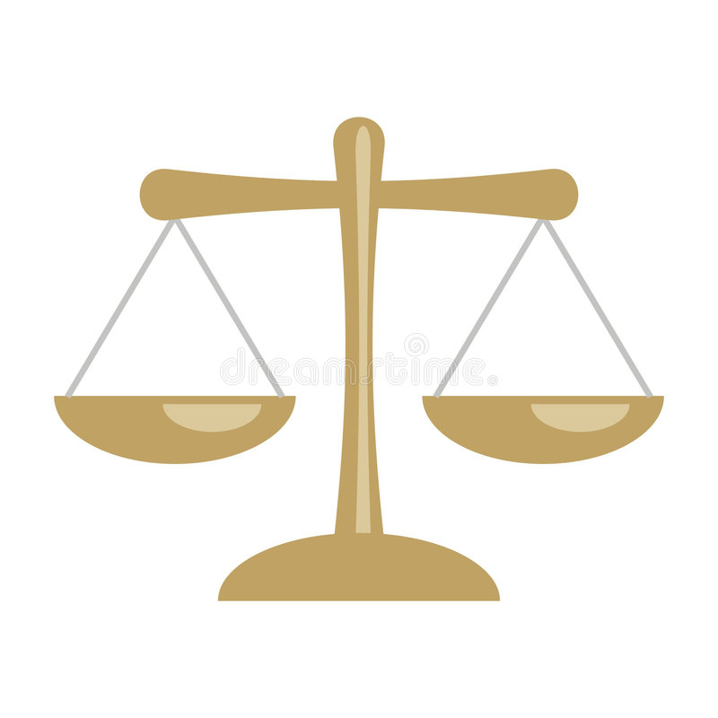 Balance scale. Art illustration of a balance scale or the zodiac sign of libra royalty free illustration