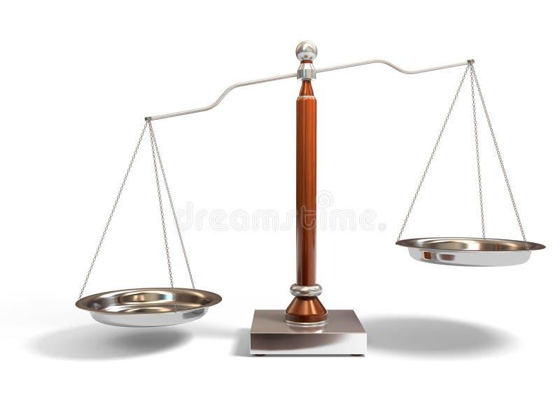 Balance scale royalty free illustration