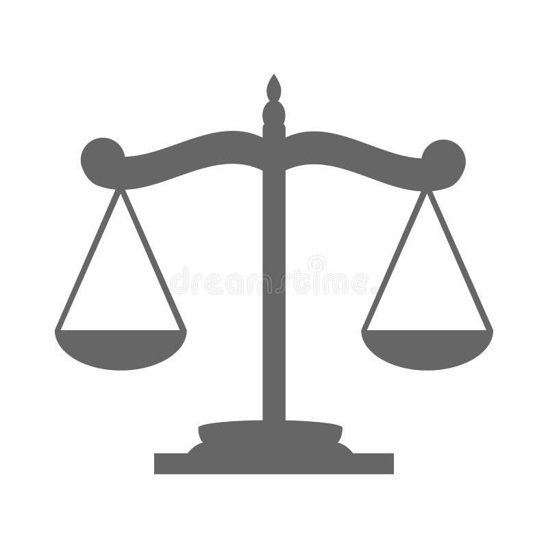 Balance on the scale. Icon on white background royalty free illustration
