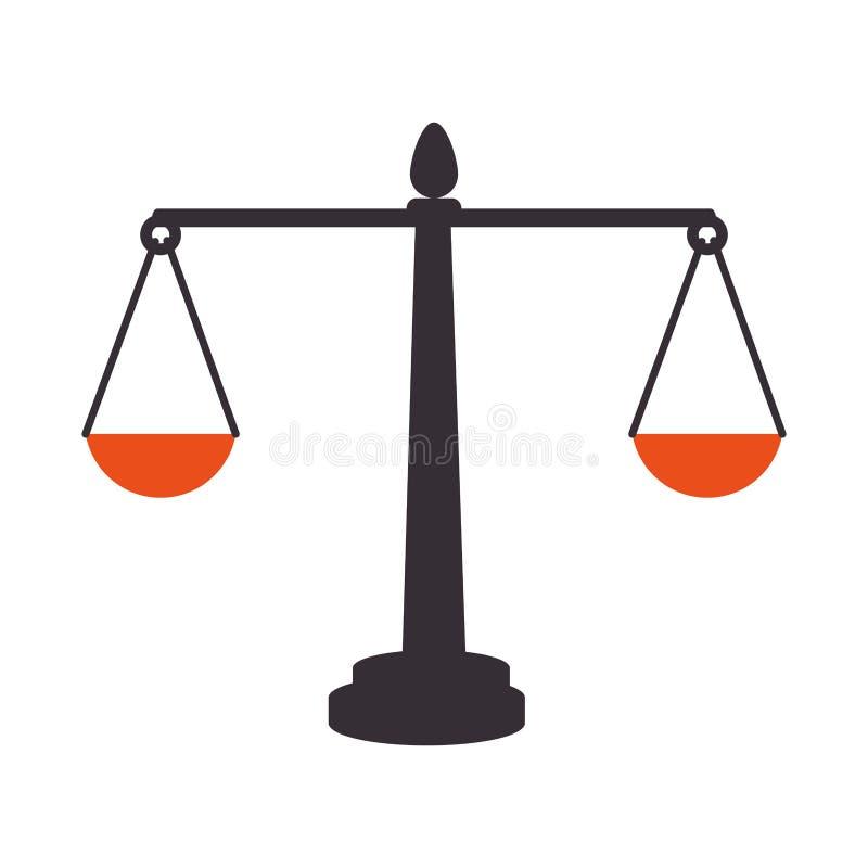 Balance scale isolated icon. Illustration design royalty free illustration