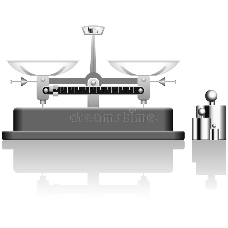 Balance Scale and Poise. Layered vector illustration of Balance Scale and poise vector illustration