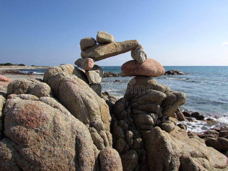 Balance of stones stock photo