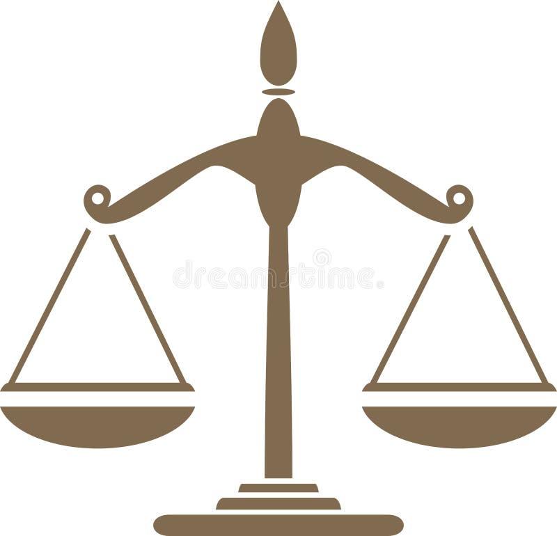 Balance Symbole pour la conception illustration libre de droits