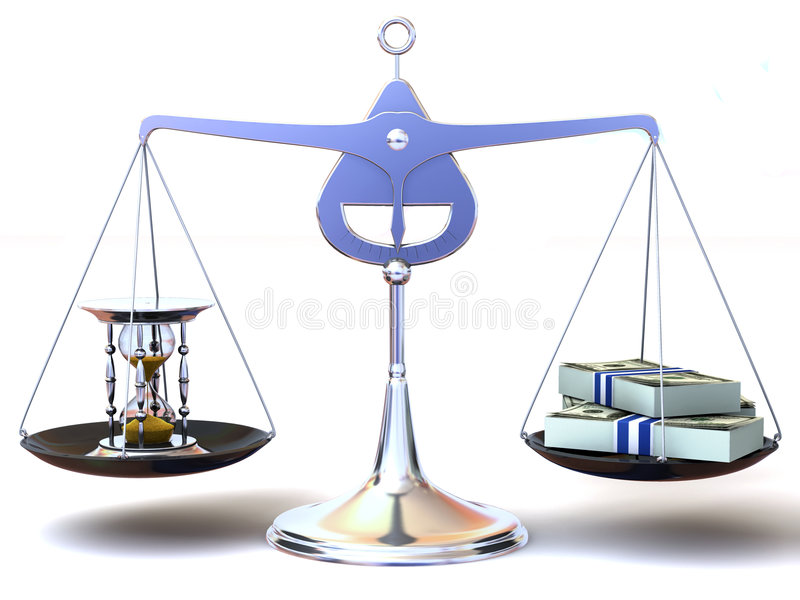 Download Balance of time and money stock illustration. Image of loss - 6843285