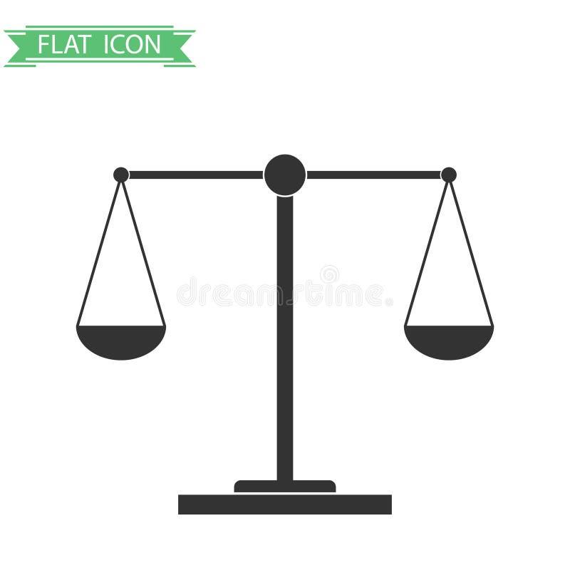 Balance von Gewichten lizenzfreie abbildung