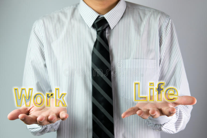 Balance between work and life royalty free stock image