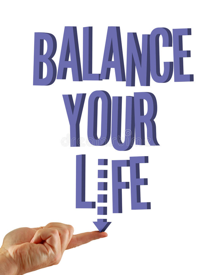 Download Balance your life stock illustration. Illustration of conceptual - 12153754