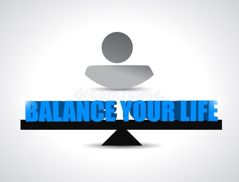 Balance your live concept illustration design stock illustration