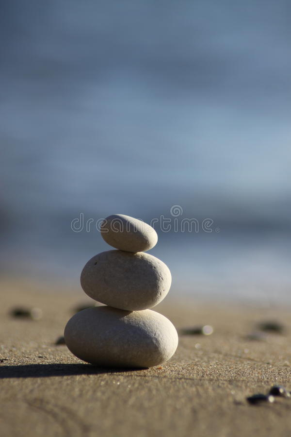 Balance 2. Zen stones photographed on Corfu island, Greece during daytime. Camera used Canon EOS 50D with Tamron 70-300mm f4;5.6 lens royalty free stock photo