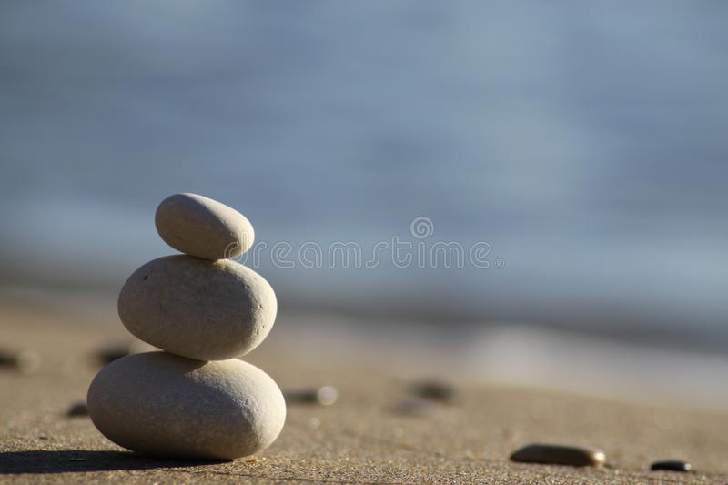 Balance 3. Zen stones photographed on Corfu island, Greece during daytime. Camera used Canon EOS 50D with Tamron 70-300mm f4;5.6 lens royalty free stock photography