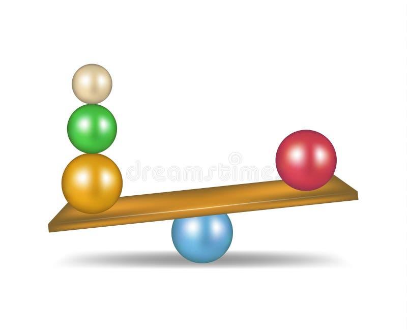 Download Balanced balls stock vector. Image of standing, individuality - 28386500
