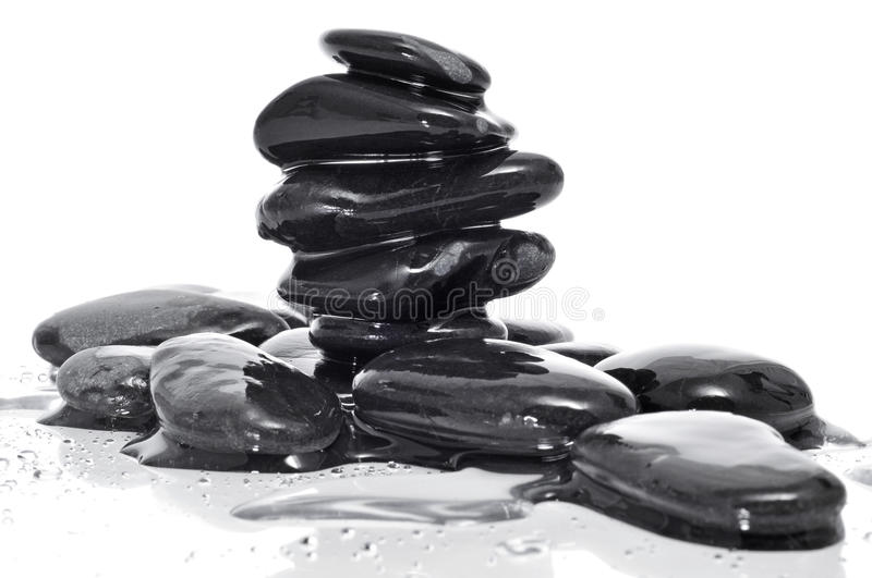 Download Balanced Black Zen Stones Stock Images - Image: 25867544