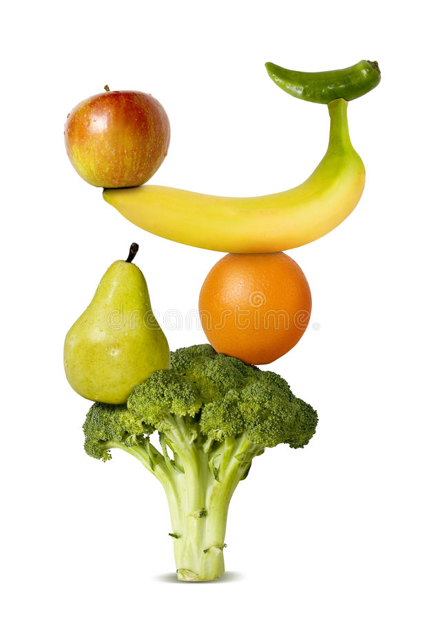 Balanced diet royalty free stock photo