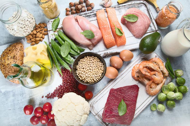 Balanced diet. Healthy food concept stock photography