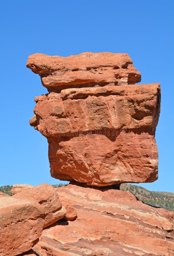 Balanced Red Rock Garden Of The Gods Colorado Springs