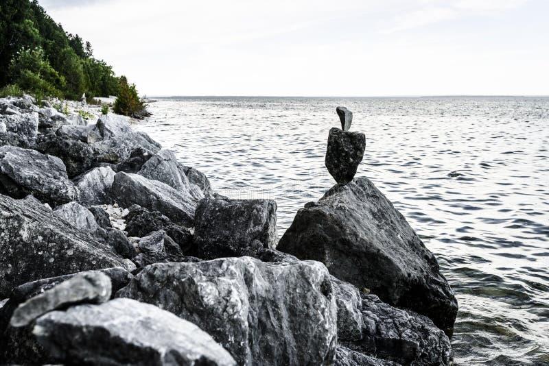 Balanced rocks royalty free stock photo