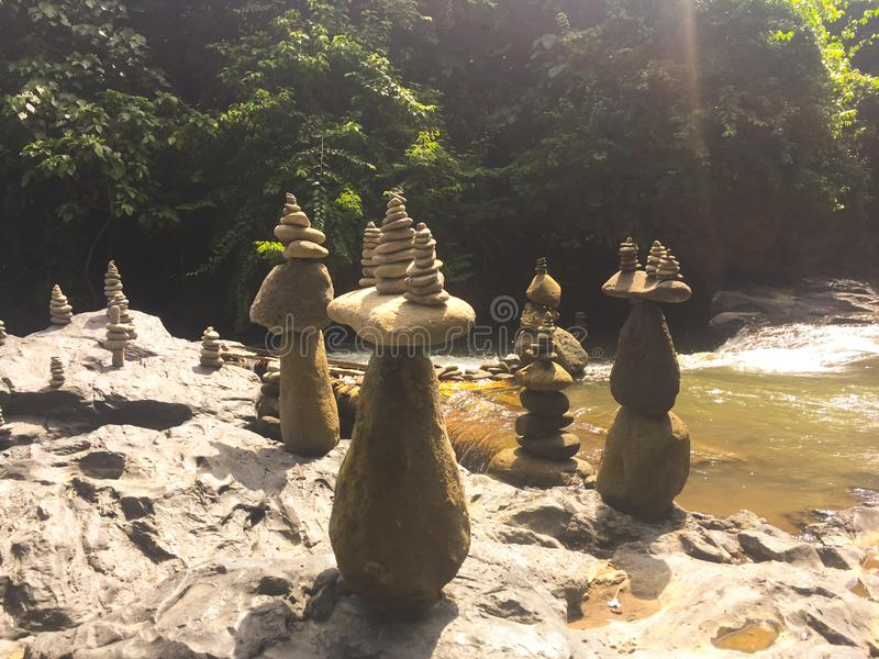 Balanced Rocks - Bali stock image