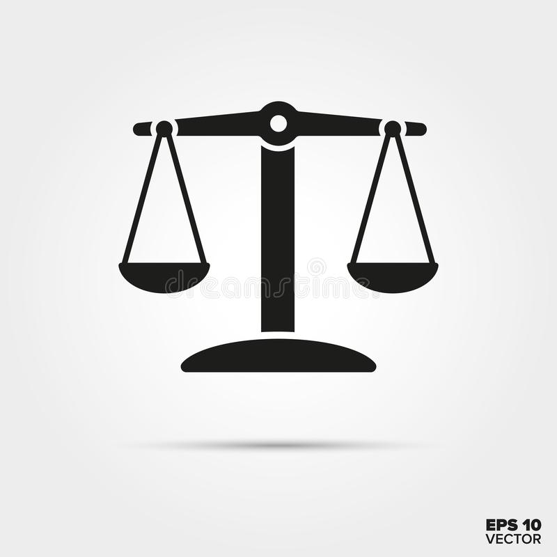 Scales In Balance Vector Icon Stock Illustration Illustration Of