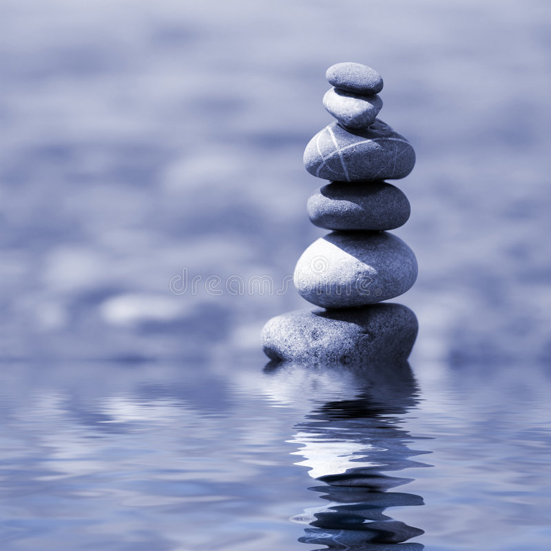 Balanced stones. On the water royalty free stock photos