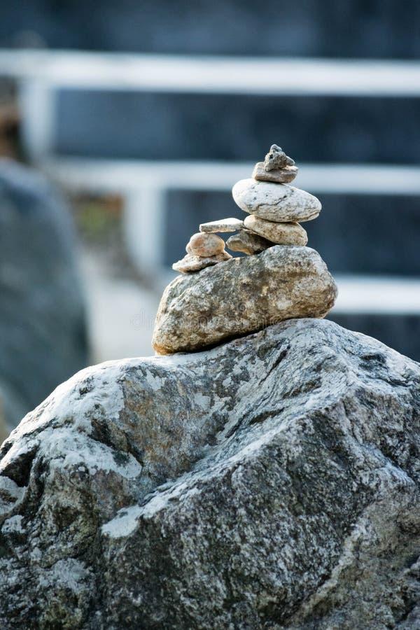 Balanced stones. Stability and harmony stock image