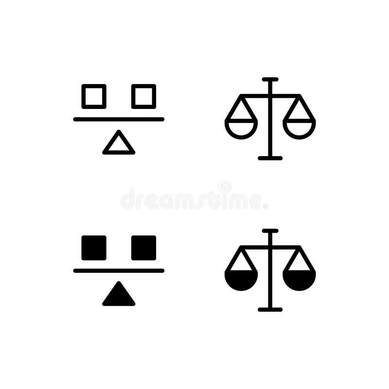Balancen-Ikone Logo Vector Symbol Stabilitäts-Ikone lokalisiert auf weißem Hintergrund lizenzfreie abbildung