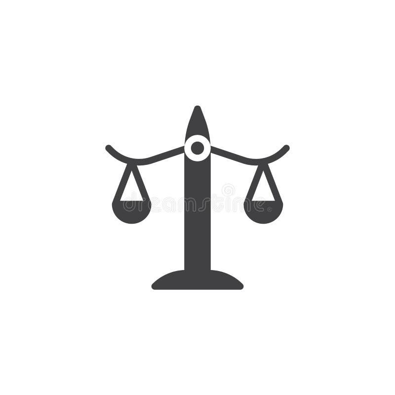 Balancenikonenvektor lizenzfreie abbildung