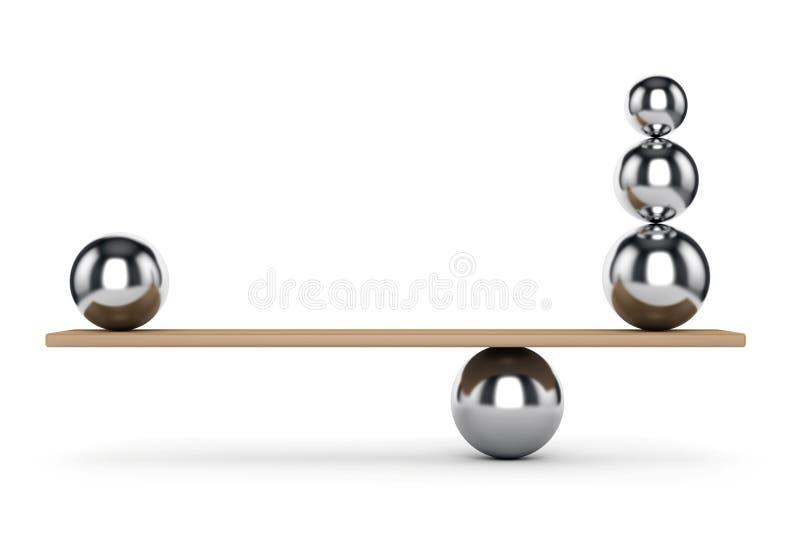 Balancenmetallbälle stock abbildung