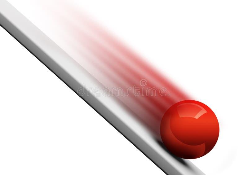 Balanceo hacia abajo 3d de la bola ilustración del vector