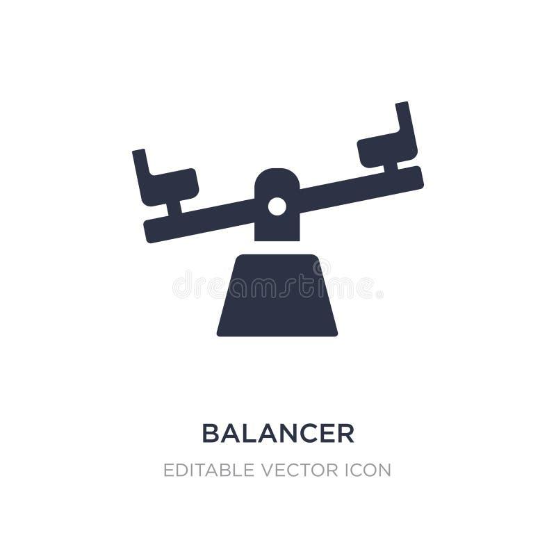 balancer εικονίδιο στο άσπρο υπόβαθρο Απλή απεικόνιση στοιχείων από τη γενική έννοια ελεύθερη απεικόνιση δικαιώματος