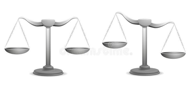 Balances ilustración del vector