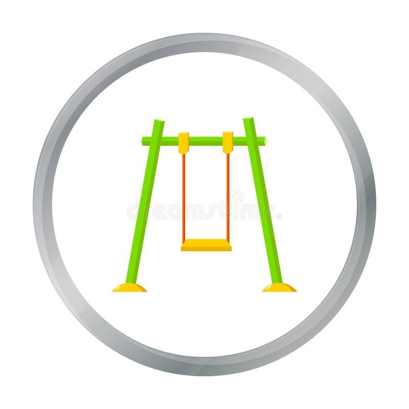 Balancez l'icône dans le style de bande dessinée d'isolement sur le fond blanc Illustration de vecteur d'actions de symbole de ja illustration stock